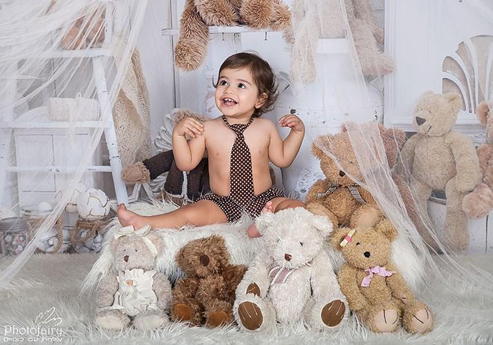 צילומי קייק סמאש - צילום לגיל שנה בקונספט דובים