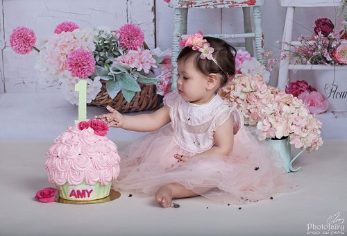 קייק סמאש ליום הולדת שנה, פרחוני רומנטי ועדין