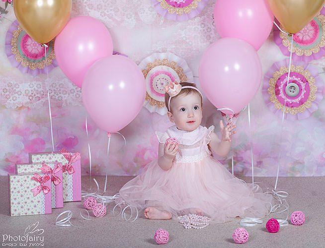 צילום יום הולדת חגיגי בסגנון רומנטי ללא עוגה