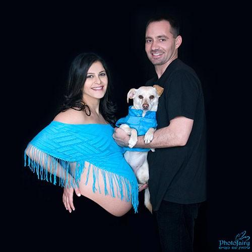 צילומי הריון עם כלב