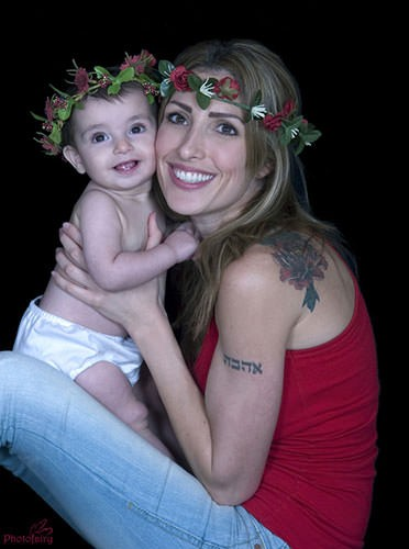 צילומי משפחה לאמא ותינוקת -אהבה