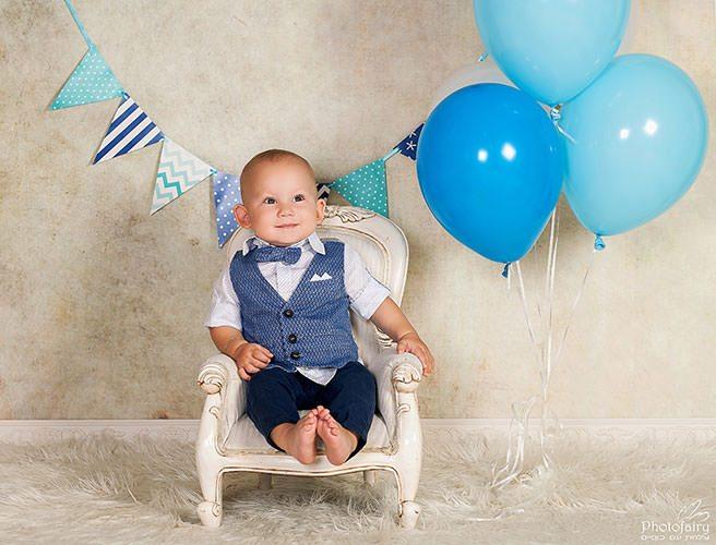 צילום תינוקות לכבוד יום הולדת שנה בסטודיו