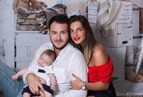 תמונות משפחה עם תינוקי שנרדם