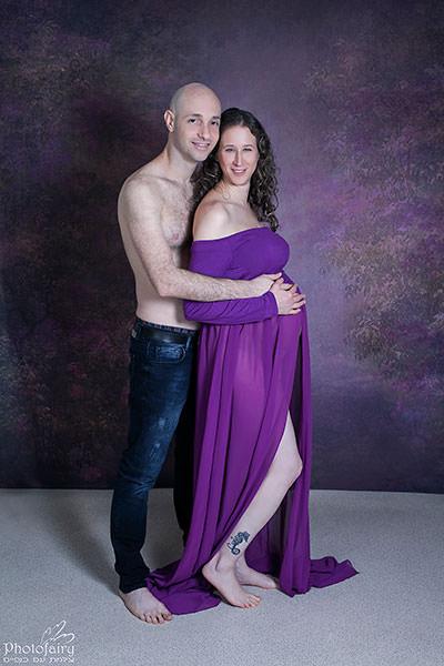 צילומי הריון בסטודיו לזוג