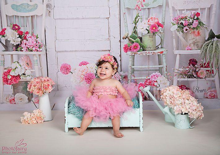 צילום תינוקות לגיל שנה בסגנון רומנטי מהמם