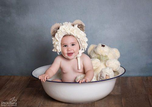 צלם תינוקות מקצועי- תינוק דובי