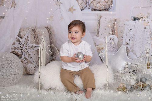 צילום תינוקות חגיגי וקסום לבן כסוף זהב