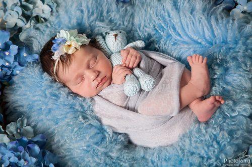 - צילום תינוקות ניובורן בגווני תכלת משגעים