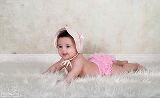 צילום תינוקות בגווני שמנת