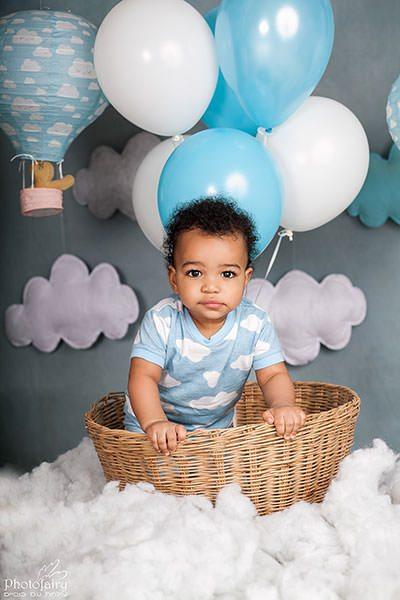 צילון תינוק בכדור פורח לכבוד גיל שנה