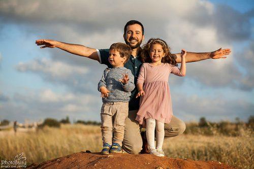צילומי משפחה בחוץ- אבא תעשה לי אווירון